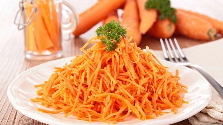 Зимний салат из свежей моркови