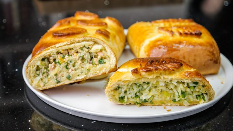 Начинка для пирожков из риса и яйца